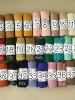 ผ้าคลุม วิสคอส viscose สีพื้น เนื้อยับ HJ1164