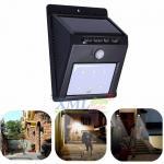 Solar Powered 6 SMD LED wall light