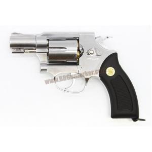 ปืนลูกโม่ 2 นิ้ว Smith&Wesson M36 สีเงิน อัดแก๊ส Co2 - GunHeaven