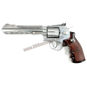 ปืนลูกโม่ 6 นิ้ว อัดแก๊ส Co2 สีเงิน - WinGun 702s