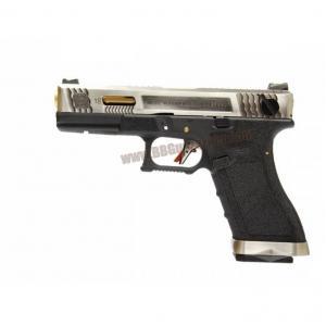 Glock18C T3 Gen4 สไลด์เงิน ท่อทอง เฟรมดำ WE