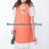 DR62050Orange ชุดคลุมท้อง ชีฟองสีส้ม