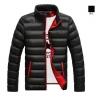 fashion เสื้อแจ็คเก็ตกันหนาว ผ้าโพลี สีดำ (รอสินค้า15-20วัน)