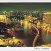 โปสการ์ด กรุงเทพฯ ยามค่ำคืน /แม่น้ำเจ้าพระยา/วิวกลางคืน/มุมมองจากที่สูง
