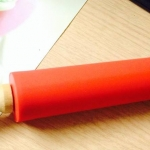 Rolling Pin Red Silicone 38.cm