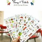 (6 แผ่น/ชุด) สติ๊กเกอร์ Udong et Valerie - North Europe Sticker Set