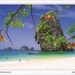 โปสการ์ด หาดถ้ำพระนาง จังหวัดกระบี่ /ทะเล/ชายหาด