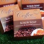Coffee Curcuma Scrub Soap By Noomham สบู่สครับกาแฟ ผสมขมิ้นชันบายหนูแหม่ม