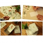 Mini cards การ์ดลายดอกไม้ 48 ใบ ในกล่องโลหะ / 48 Flower Cards in Tin Box / Greeting Cards / Gift Card