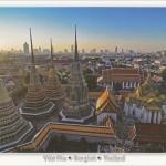 โปสการ์ด วัดพระเชตุพนวิมลมังคลารามราชวรมหาวิหาร กรุงเทพฯ /วัดโพธิ์/เจดีย์/มุมมองจากที่สูง/โบราณสถาน