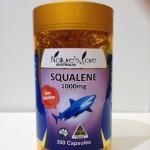 Squalene น้ำมันตับปลาฉลามน้ำลึก pure 1000mg.ดูแลผิวพรรณ ผม เล็บ ป้องกันมะเร็ง