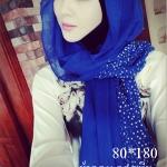 ผ้าฮิญาบ ผ้าคลุม อิสลาม ดอก มิยะ HJ1177