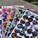 (2 แผ่น/ชุด) สติ๊กเกอร์สไตล์ภาพโลโม Lomo Style Sticker Set