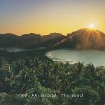 โปสการ์ด เกาะพีพี จังหวัดกระบี่ /ทะเล/ชายหาด/อุทยานแห่งชาติ/พระอาทิตย์ตก