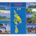 โปสการ์ด อ่าวพระนาง อ่าวมาหยา คลองแห้ง จังหวัดกระบี่ /ทะเล/ชายหาด/อุทยานแห่งชาติ/แผนที่/multiview