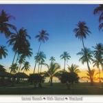 โปสการ์ด หาดละไม เกาะสมุย จังหวัดสุราษฎร์ธานี /ทะเล/ชายหาด/พระอาทิตย์ตก