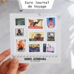 (4 แผ่น/ชุด) แสตมป์สติ๊กเกอร์ Euro Journal de Voyage Stamp Sticker Set (ใช้ตกแต่ง ไม่สามารถใช้แทนค่าฝากส่ง)