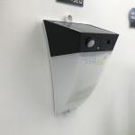 โคมไฟโซล่าเซลล์ ติดผนัง ทรงพีระมิด 10 super SMD LED + Motion sensor