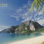โปสการ์ด อ่าวต้นไทร เกาะพีพี จังหวัดกระบี่ /ทะเล/ชายหาด/อุทยานแห่งชาติ