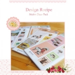 (10แผ่น/ชุด) สติ๊กเกอร์แนววินเทจจากเกาหลี Design Recipe Sticker Pack
