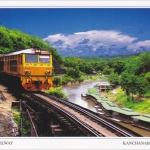 โปสการ์ด ทางรถไฟสายมรณะ จังหวัดกาญจนบุรี /รถไฟ/รางรถไฟ