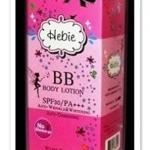 Hebie BB Body Lotion สีชมพู ไม่มีซิมเมอร์ เพื่อการปกปิดผิวแบบธรรมชาติ กล่องใหม่น่าใช้กว่าเดิม