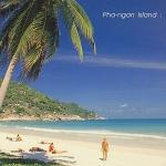 โปสการ์ด หาดริ้น เกาะพะงัน จังหวัดสุราษฎร์ธานี /ทะเล/ชายหาด/อุทยานแห่งชาติ