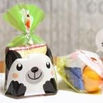 ถุงเบเกอรี่ ถุงขนม รูปหมี สีเขียว 100ใบ/ห่อ