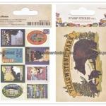 02STMTK-0001f (2 แผ่น/ชุด) แสตมป์สติ๊กเกอร์ Ancien Stamp Sticker ver.2 (F)