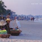 โปสการ์ด หัวหิน จังหวัดประจวบคีรีขันธ์ ทะเล/ชายหาด/วิถีชาวบ้าน/ชีวิตประจำวัน/อาชีพ/แม่ค้าขายของ