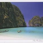 โปสการ์ด อ่าวมายา หมู่เกาะพีพี จังหวัดกระบี่ /ทะเล/ชายหาด/อุทยานแห่งชาติ