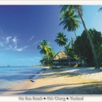โปสการ์ด หาดไก่แบ้ เกาะช้าง จังหวัดตราด /ทะเล/ชายหาด/อุทยานแห่งชาติ