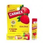 ลิปปาล์มบำรุงปากกลิ่นสตอเบอร์รี่ Carmex Lip Balm Click Stick SPF 15 (Strawberry)