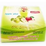 Ok slim diet apple plus เครื่องดื่มรสแอปเปิ้ลชนิดผงสำหรับลดน้ำหนัก มี10ซอง หนัก155g.