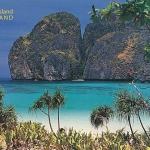 โปสการ์ด อ่าวมายา พีพีเล หมู่เกาะพีพี จังหวัดกระบี่ /ทะเล/ชายหาด/อุทยานแห่งชาติ