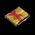 ลวดมัดปากถุง สีทอง บรรจุ 800 ชิ้น/ห่อ