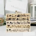 ตัวปั๊ม DIY มี5ลายให้เลือก DIY Rubber Stamps