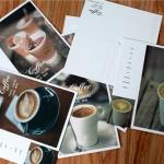 โปสการ์ด+ที่คั่นหนังสือ 30ใบ/เซ็ท Coffee O'Clock Postcard Set