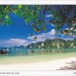 โปสการ์ด อ่าวต้นไทร เกาะพีพีดอน จังหวัดกระบี่ /ทะเล/ชายหาด/อุทยานแห่งชาติ