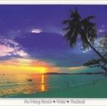 โปสการ์ด หาดอ่าวนาง จังหวัดกระบี่ /ทะเล/ชายหาด/พระอาทิตย์ตก