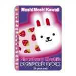 Strawberry Moshi's Postcard Book โปสการ์ดลายการ์ตูนกระต่าย Strawberry Moshi 30 ใบในเล่ม