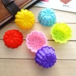 พิมพ์ซิลิโคน พิมพ์วุ้น พิมพ์สบู่ รูปดอกไม้ 3cm.(12 ชิ้น)