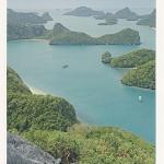 โปสการ์ด หมู่เกาะอ่างทอง จังหวัดสุราษฎร์ธานี /ทะเล/ชายหาด/อุทยานแห่งชาติ/มุมมองจากที่สูง