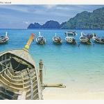 โปสการ์ด หมู่เกาะพีพี จังหวัดกระบี่ /ทะเล/ชายหาด/อุทยานแห่งชาติ/เรือ