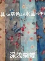 ผ้าคลุม วิสคอส viscose ลาย ผีเสื้อ HJ1169