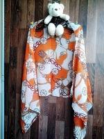 ผ้าพันคอ ชีฟอง สกรีนลาย Chiffon CF01-025