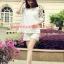 Mix56001White ชุดเซ็ตเสื้อ+กางเกงแขนลายจุด-สีขาว thumbnail 2