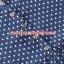 S59013Blue เสื้อคลุมท้องสีน้ำเงินแขนยาวลายสี่เหลี่ยม thumbnail 2