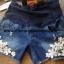 กางเกงคลุมท้อง ยีนส์ปักลูกไม้ size XL thumbnail 3
