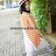 S49014Orange เสื้อคลุมท้องผ้ายืดลายขวางสีส้มด้านหลังอัดพลีส thumbnail 3